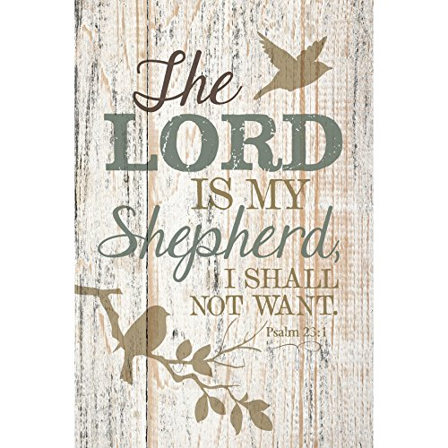 The Lord Is My Shepherd…New Horizons Wood Plaque with Easel
