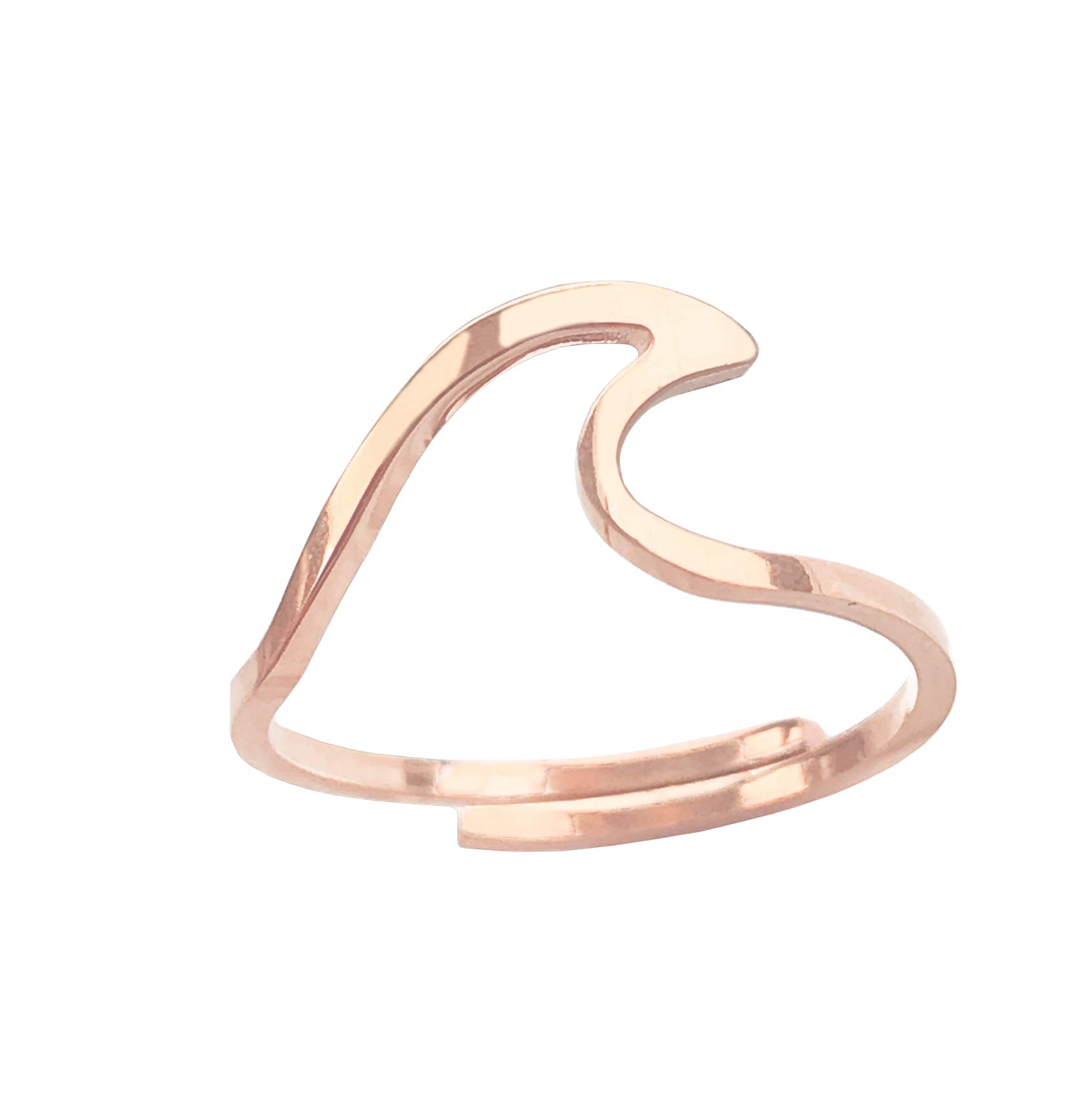 Altitude Boutique Ocean Wave Ring, Beach Ring for Her Love of the Sea (Rose Gold)