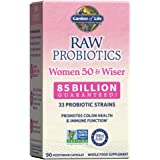 Garden of Life Raw Probiotics Women 50 & Wiser - Acidophilus Live Cultures, Probiotic-Created Vitamins, Minerals, Enzymes and