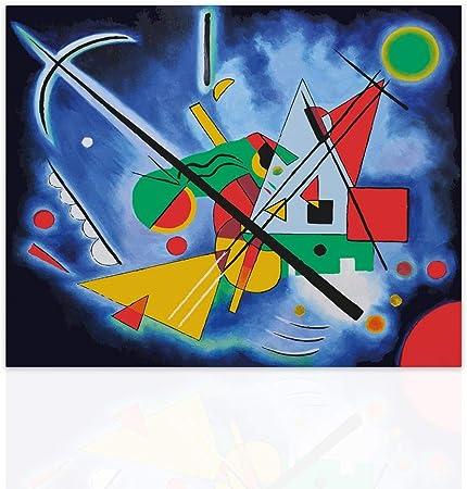 Declea Tableau Abstraits Kandinsky Sur Toile Reproduction Sur Toile Tableaux Decoration Murale Moderne Art Pour La Maison Pret A Accrocher A La Main En Bois Design Amazon Fr Bienvenue