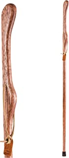 product image for Brazos Trekking Pole Hiking Stick for Men and Women Handcrafted of Lightweight Wood and made in the USA, Red Oak, 55 Inches