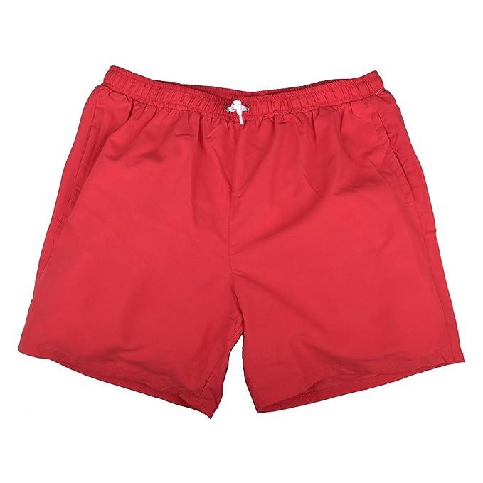 Abraxas Short de Baño Rojo Jim Oversize, 2xl-8xl:2XL