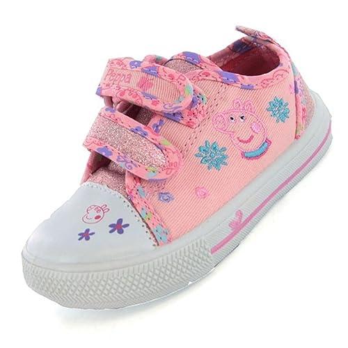 Peppa Pig - Zapatillas de Lona para niña Rosa Rosa: Amazon.es: Zapatos y complementos