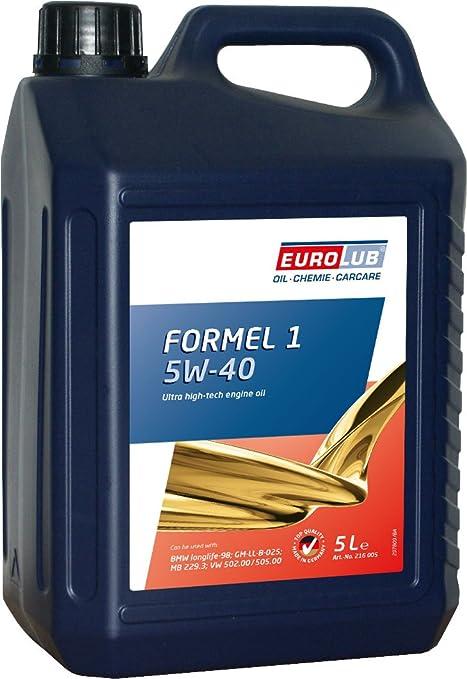 Eurolub Aceite para Motor Formel 1 SAE 5W-40