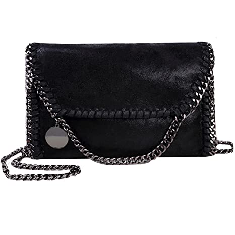 13e11b23536d Amily PU Leather Chain Bag Cross Body Bag Hobo Handbag Clutch Shoulder Bag  Messenger Bag Purse