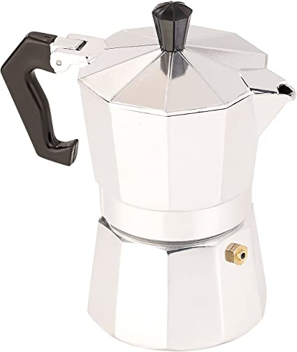 Cucina di Modena Cafetera: Cafetera espresso para 3 tazas, Gas-, Estufa eléctrica y vitrocerámica, 150 ml (Café exprés Jarra)
