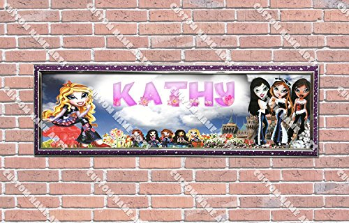 zed Bratz Poster With Frame, With Your Name On It, Party Door Poster, Room Art Decoration, Wall Decor ()