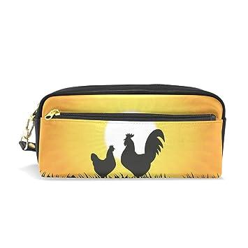 Eslifey Silueta de gallo, bolsa portátil de piel sintética ...