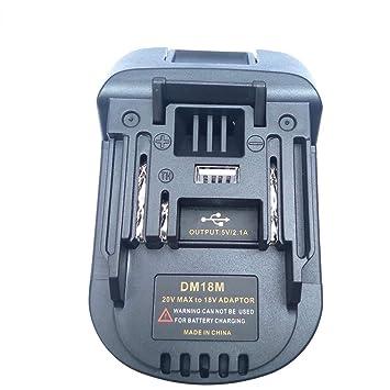 DM18M batería conversión Adaptador 18V a 20V para Dewalt ...