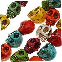 20 Stks Kleurrijke Schedel Kralen Sieraden Maken Gesneden Kralen Crafting Levert Mix Kleur 9.5x12mm Kleurrijke Kralen