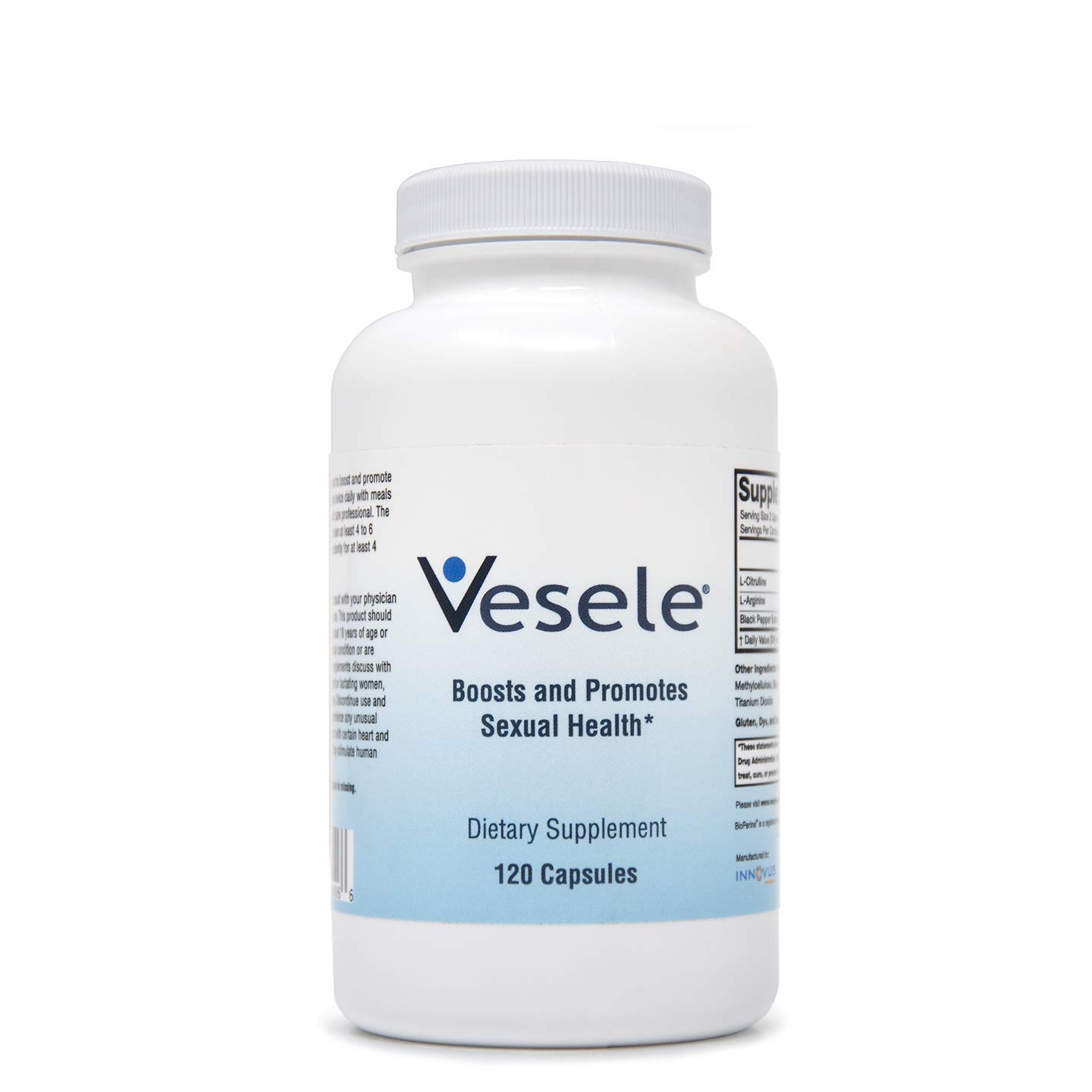Vesele - Promotes Healthy Blood Flow and Nitric Oxide Absorption, Dietary Supplement with 1500mg Proprietary Blend of L-Citrulline, L-Arginine, BioPerine