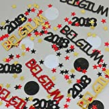 Belgium World Cup Confetti 2018 Ball, Stars Red, Gold, Black - Pouched #6177 - Free Ship