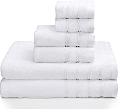 100/% Cotton High Absorbent Hotel Quality 6-Piece Bath Towel Set