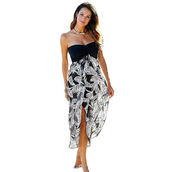 91b4745ddf4b Mela Proibita - Pareo donna mare abito asimmetrico vestito copricostume  elegante velato abito - Nero - Bianco