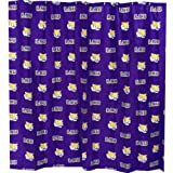 Louisiana State Tigers Printed Shower Curtain Cover - 70'' X 72''