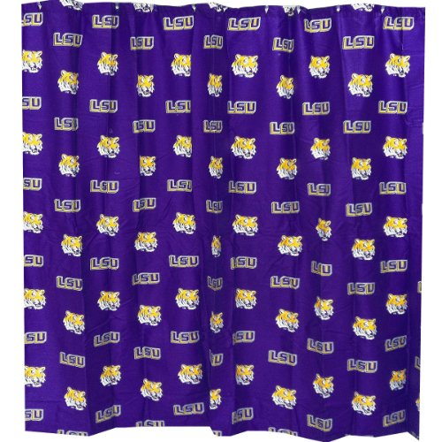 Louisiana State Tigers Printed Shower Curtain Cover - 70