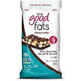 Love Good Fats Plant-Based Bars – Chewy-Nutty Dark Chocolatey Sea Salt & Almond – Keto-Friendly Protein Bar with Natural Ingr