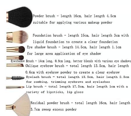 4c845ee25 AA-SS-Makeup Brush Pinceles de Maquillaje Pinceles de Maquillaje Profesional  Kabuki Foundation Pinceles de Corrector Que Combinan con Bolsa de  cosméticos: ...