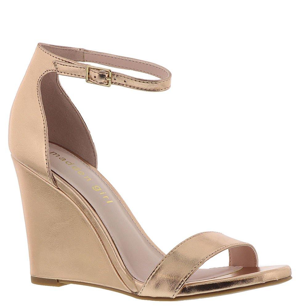 Madden Girl Women's Willoow Wedge Sandal, Rose Gold, 10 M US