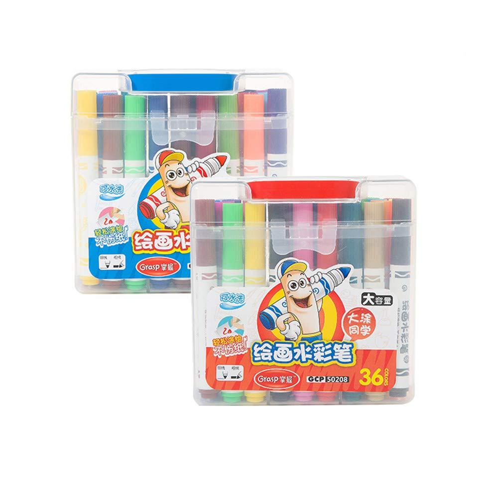 Vann92 12/18/24/36 Colors Marker Pens Kindergarten Panting Pens Water Color Tools Highlighters Kawaii Stationery School Office Supplies