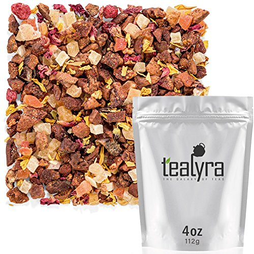 Tealyra - Macaron à la Pêche - Pear Pineapple Mango - Herbal Fruity Loose Leaf Tea Blend - Caffeine-Free - Vitamin Rich - Hot or Iced - 112g (4-ounce)