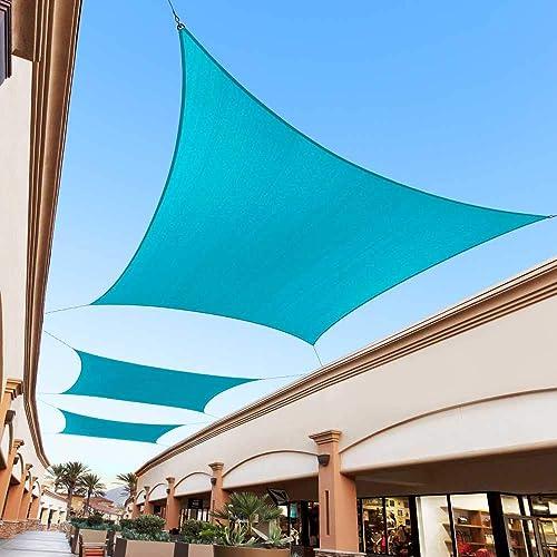 Royal Shade 13' x 23' Turquoise Custom Size Order to Make Sun Shade Sail RTAPR0812 Canopy Mesh UV Block Rectangle