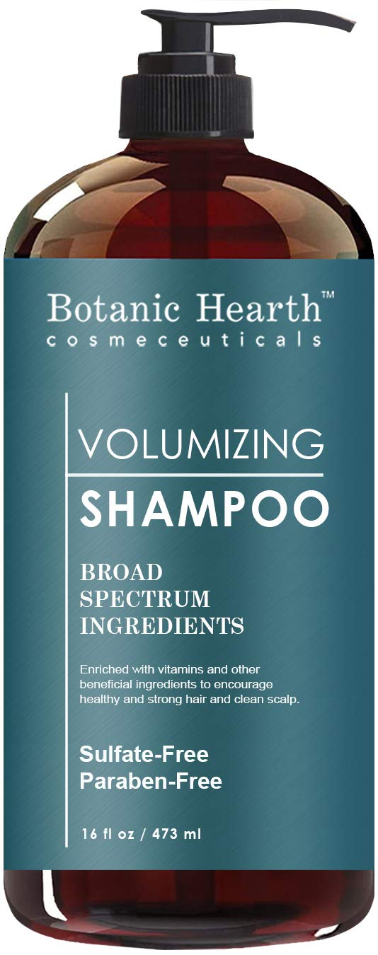 BotanicHearth Volumizing Hair Loss Shampoo - Biotin, Rosemary Oil and Growth Promoting Natural Ingredients, Sulfate Free, 16 fl oz by Botanic Hearth