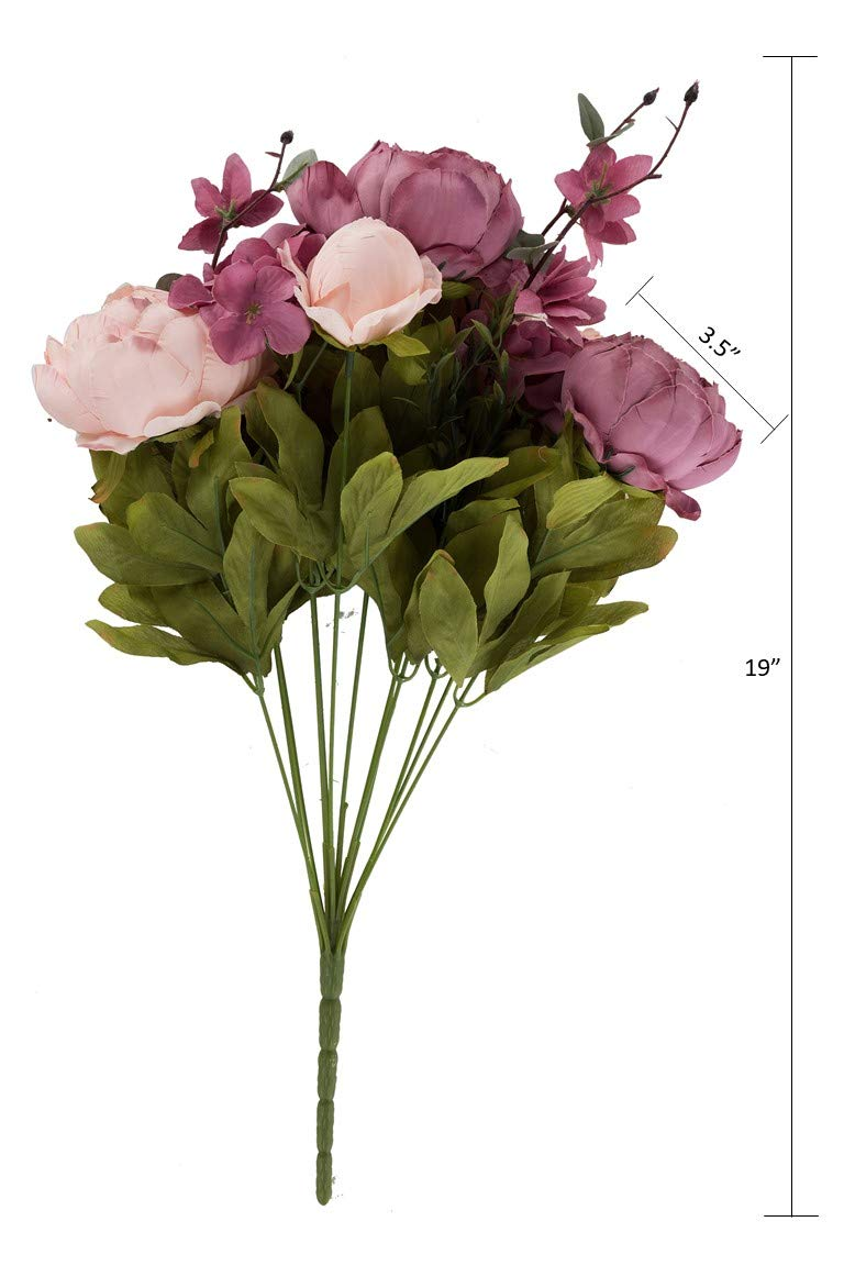 EZFLOWERY-1-Pack-Artificial-Peony-Silk-Flowers-Arrangement-Bouquet-for-Wedding-Centerpiece-Room-Party-Home-Decoration-Elegant-Vintage-Perfect-for-Spring-Summer-and-Occasions-1-Blush