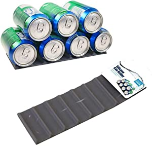 Silicone Can Mat Refrigerator Organizer - Stacks Cans and Bottles for Easy Storage