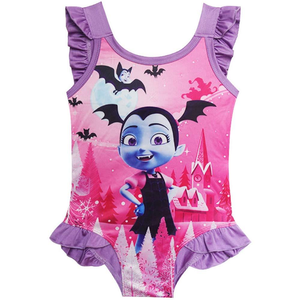 MERLI Vampirina Little Girls One Piece Swimsuit Swimwear