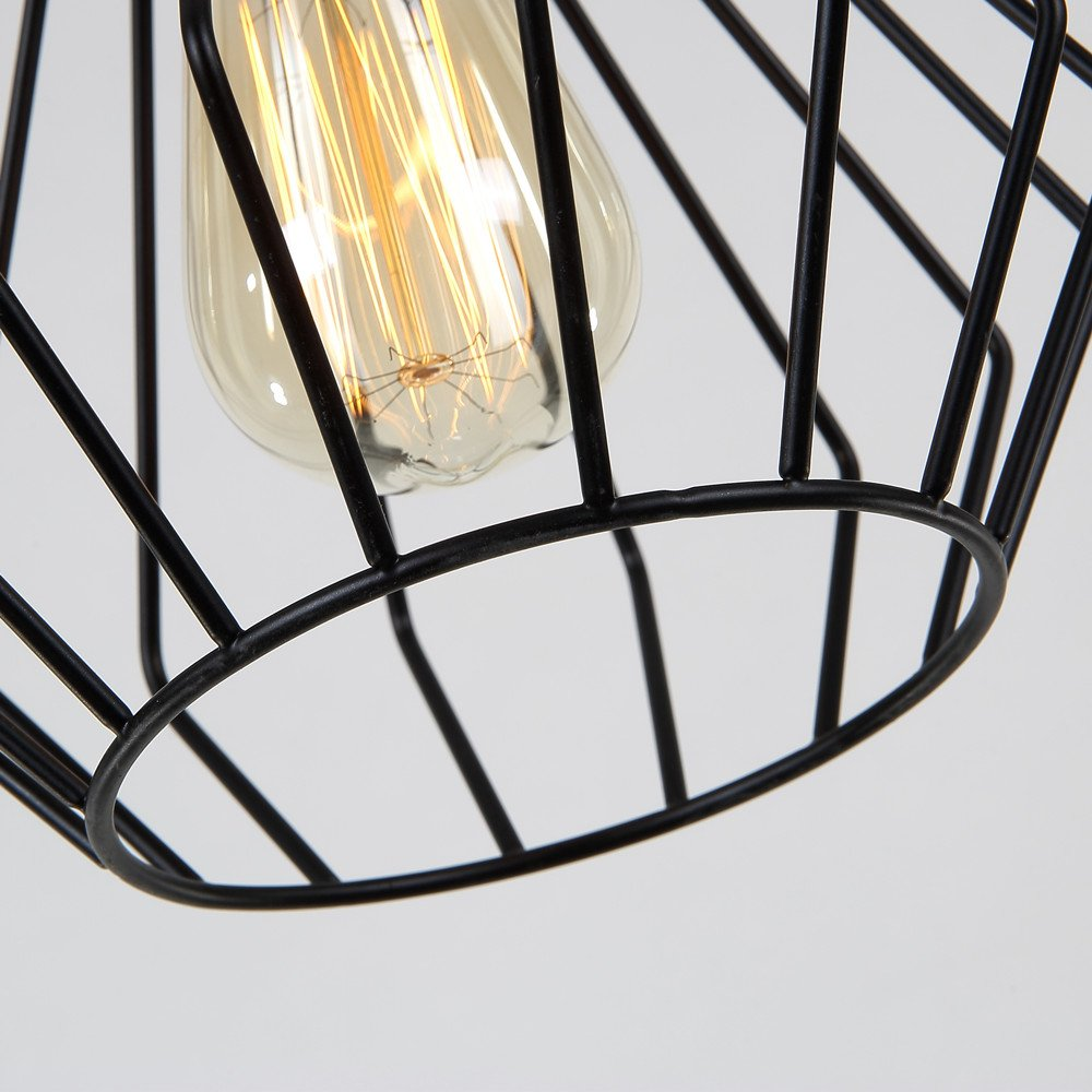 Edison Vintage Pendant Light Fixture Chandelier Rustic Wood Hanging Ceiling Lamp 1 Light