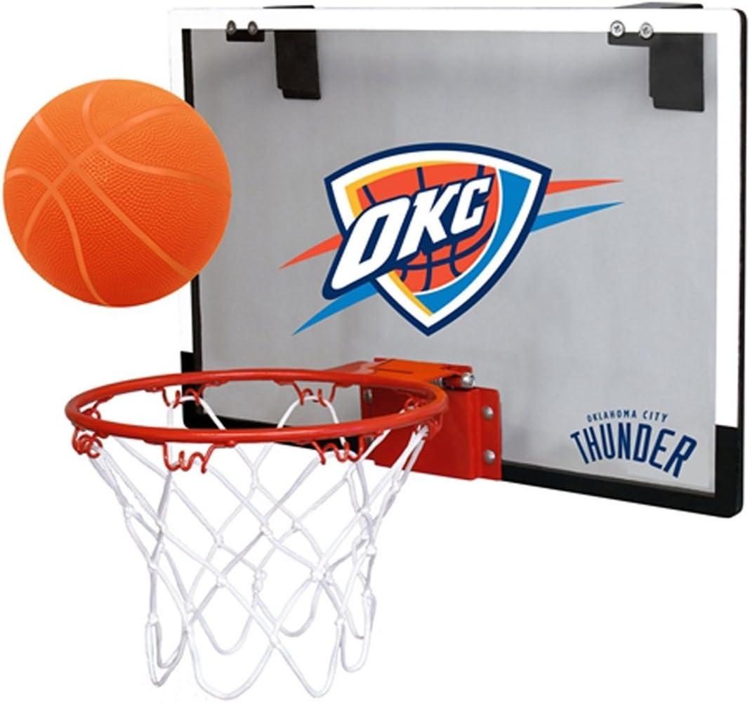 NBA Oklahoma City Thunder Game On Indoor Basketball Hoop & Ball Set: Sports & Outdoors
