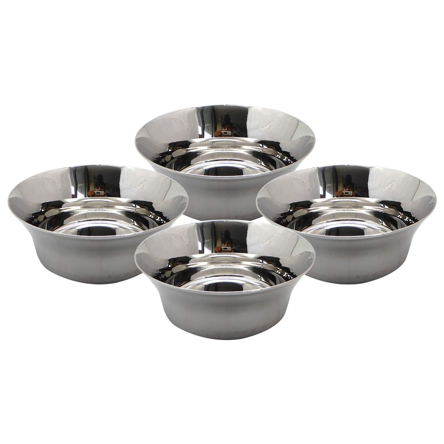 Bignay Pack of 4 Stainless Steel Mixing Set Mixing Bowls/Soup Bow Mixing Bowl Dishwasher Safe