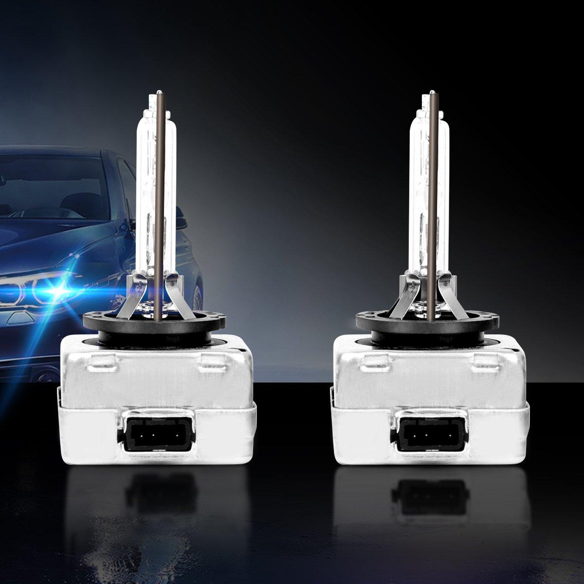 D1S,5000K D1S HID Xenon Shfy fari auto lampadine di ricambio 35W 5000K alta e bassa fascio confezione da due lampadine - 1 anno di garanzia