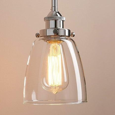 Lightsjoy Hängeleuchte Vintage Glas Pendelleuchte Industrial Hängelampe  Retro Industrie Lampen Hängende Deckenleuchte E27 für Esszimmer Esstisch  Küche ...