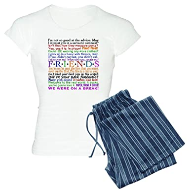 b241865233 Amazon.com  CafePress - Friends TV Quotes Women s Light Pajamas - Womens  Novelty Cotton Pajama Set
