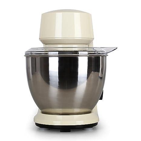 Klarstein Carina Morena Pasta Maker Set Robot de Cocina 800 W y máquina para Hacer Pasta (Incluye Recipiente Acero Inoxidable, batidora Universal) - Crema: ...