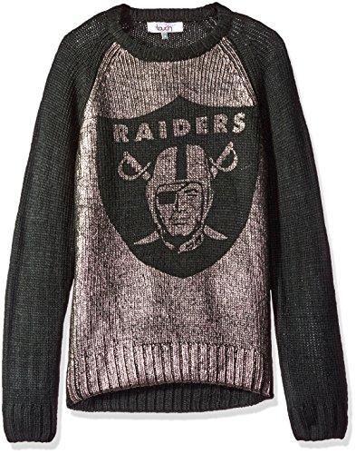 quality design a3d63 f17ab Touch by Alyssa Milano NFL Oakland Raiders Women's Shine-On Sweater,  Medium, Black