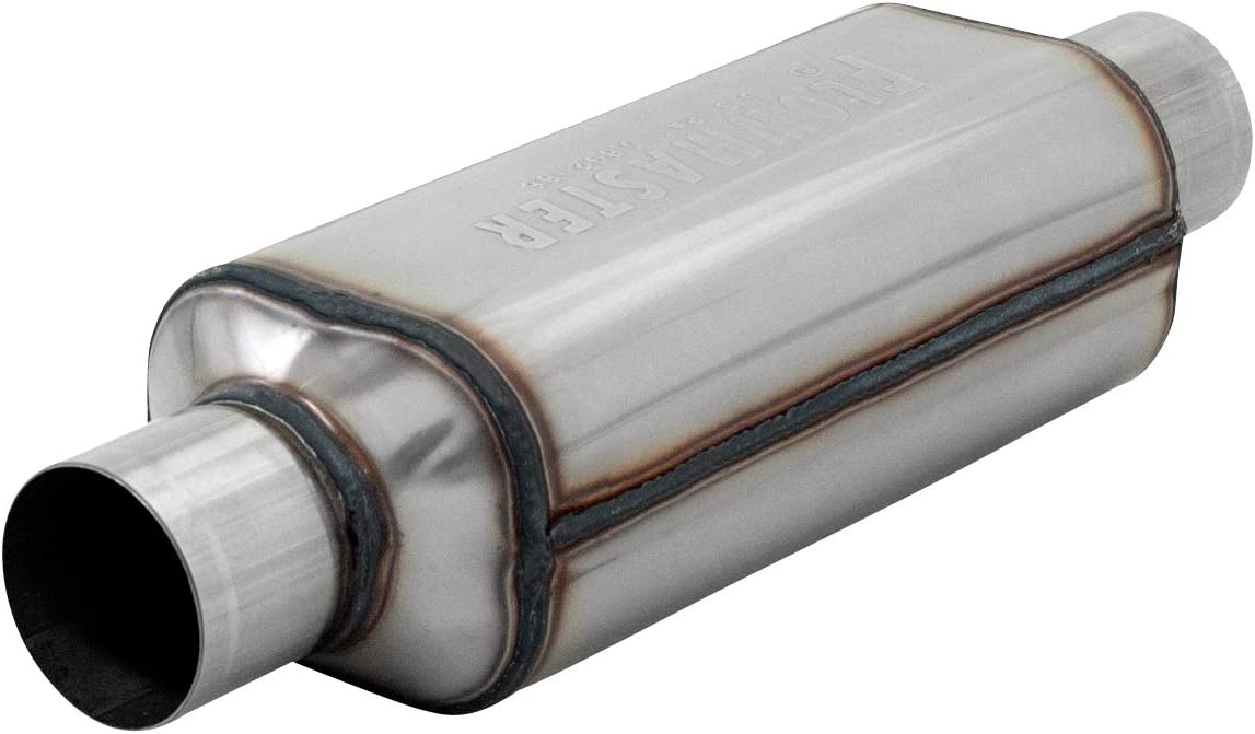 "Flowmaster 12512304 (HP-2) 2.5"" Inlet x 2.5"" Outlet 304S Muffler with Aggressive Sound"