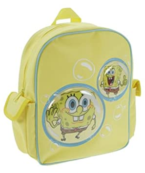 Colecciones bolso de escuela de Marcas Bob Esponja Burbujas con bolsillos laterales: Trade Mark Collections Spongebob Bubbles School Bag with Side Pockets: ...