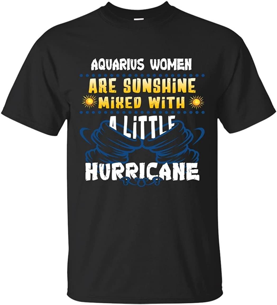Favorystore Aquarius Girls Are Sunshine Mixed With a Little Hurricane Hoodie
