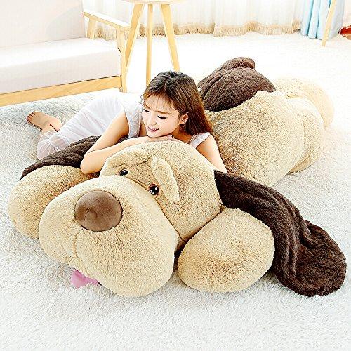 Kids Stuffed Plush - MorisMos Puppy Dog Stuffed Animal Soft Plush Dog Pillow Big Plush Toy for Girls Kids (Large-55 Inch)