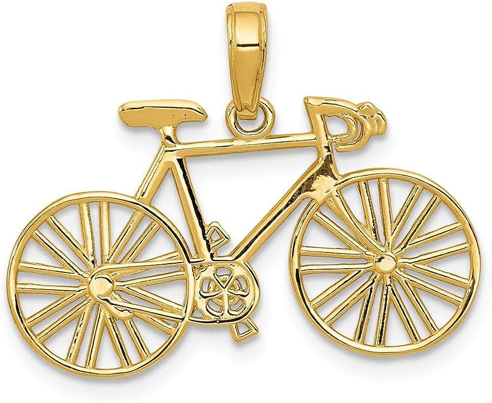 DIAMOND2DEAL INC Colgante de Oro Amarillo de 14 K para Bicicleta ...