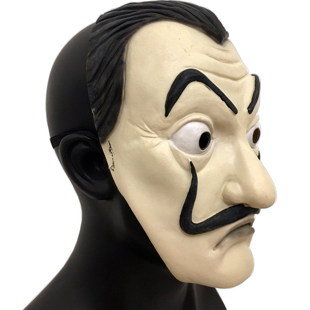 Amazon.com: baellerry La Casa De Papel Dali Mask Realistic Movie Prop Halloween Costume Latex Mask (DALI MASK): Clothing