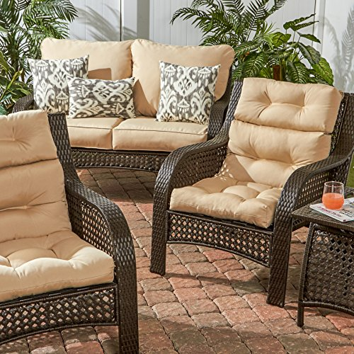 Greendale Home Fashions Outdoor High Back Chair Cushion, Stone by Greendale Home Fashions (Image #2)'