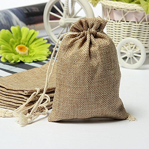 Gift Packaging Supplies - Burlap Favor Bags Wedding Small Rtic Sack Makeup Candy Boxes Jute - Faux Burlap Hessian Mini Bags Rtic Wedding Favor Gift Bag - Burlap Wedding Favor Bags - 1PCs