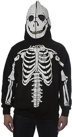 Zip Up Hoodie Day of The Dead Hooded Sweatshirt for Men