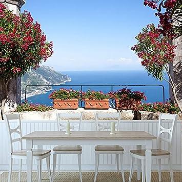 Amalfiküste Italien Wandbild Blaues Meer Foto-Tapete Wohnzimmer Haus ...