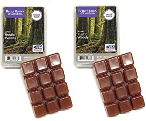 Better Homes and Gardens Warm Rustic Woods 5 oz Wax Cubes - 2-Pack