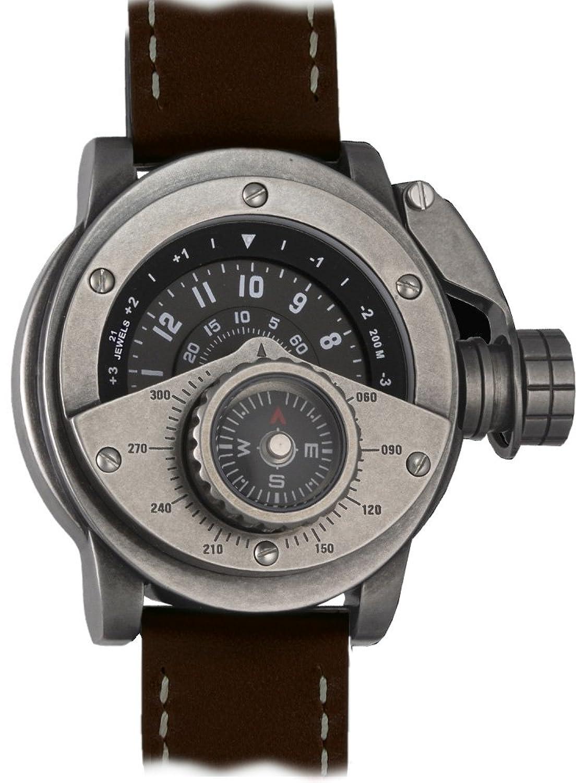 Retrowerk Automatik Uhr MIY-8215 Uhr mit Kompass Aufsatz - R016-BR